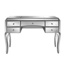 Silver Glamour Mirrored Desk Vanity