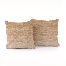 "20x20"" Size Flaxen Ombre Pillow, Set of 2"