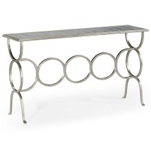 glomise & Silver Iron Circles Console