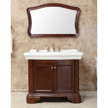 White RENAISSANCE 40-in Single-Basin Vanity Cabinet with Lavatory