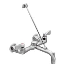 M-DURA rough chrome two-handle service sink faucet