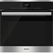 H 6560 B AM - 24 Inch Convection Oven with AirClean catalyzer and Roast probe for precise cooking.