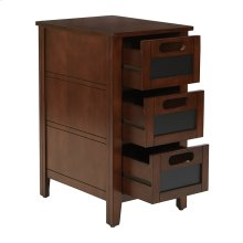 Avery Chalkboard Side Table In Saddle Finish Fully Assembled