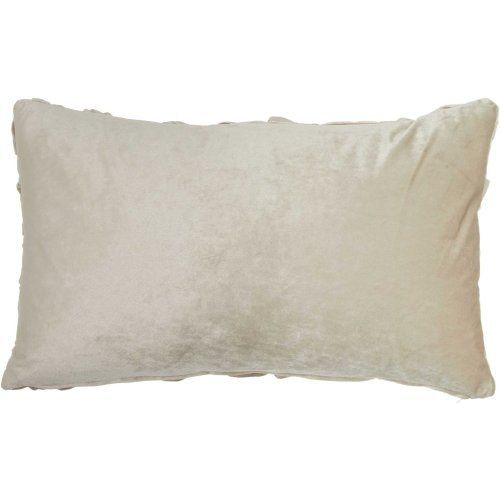 "Life Styles L0064 Beige 14"" X 24"" Throw Pillows"