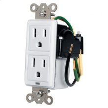 Max-In-Wall 15 Amp Duplex with Surge Protection
