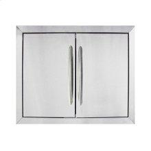 Large Stainless Steel Double Door Set