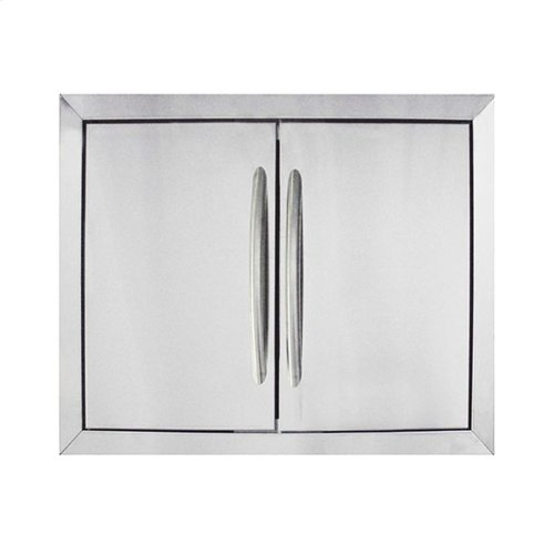 Large Stainless Steel Double Door Set