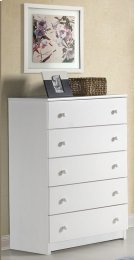 White 5 Drawer Chest Product Image