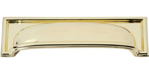 Campaign Rope Cup Pull 3 3/4 Inch - Polished Brass