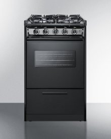 """20"""" Wide Slide-in Gas Range In Black With Sealed Burners, Oven Window, Light, and Electronic Ignition; Replaces Tnm114rw"""