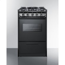 "20"" Wide Slide-in Gas Range In Black With Sealed Burners, Oven Window, Light, and Electronic Ignition; Replaces Tnm114rw"