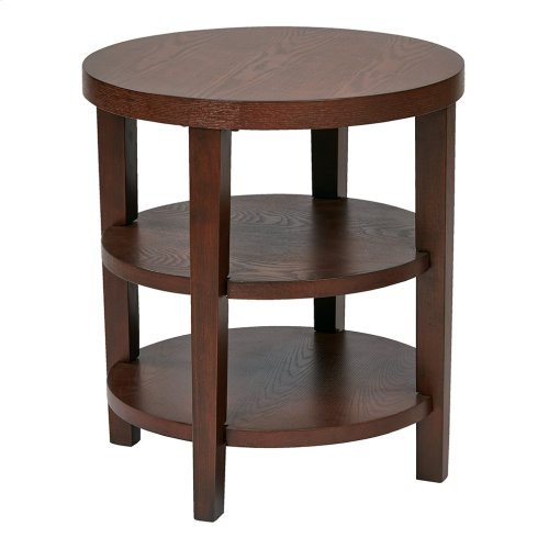 "Merge 20"" Round End Table"