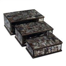 Mirrored Mosiac Box Set of 3