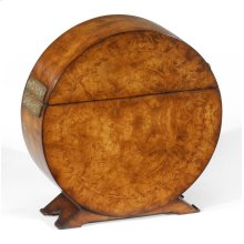 Circular Walnut & Inlay Placemat Box