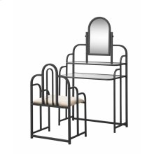 Contemporary Beige and Metal Vanity