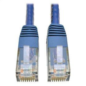 Premium Cat5/5e/6 Gigabit Molded Patch Cable, 24 AWG, 550 MHz/1 Gbps (RJ45 M/M), Blue, 100 ft.