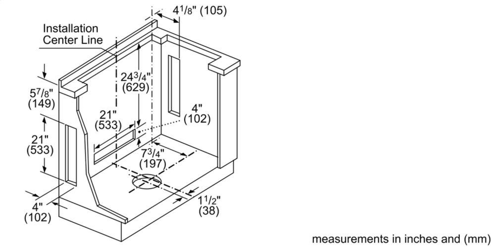 Hdd80050uc Bosch 800 Series Downdraft Ventilation