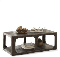 Bellagio Rectangular Coffee Table Weathered Worn Black finish Product Image