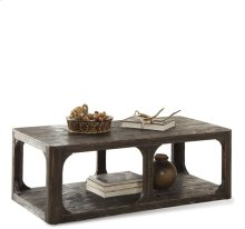 Bellagio Rectangular Coffee Table Weathered Worn Black finish