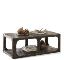 Bellagio Rectangular Coffee Table Weathered Worn Black finish