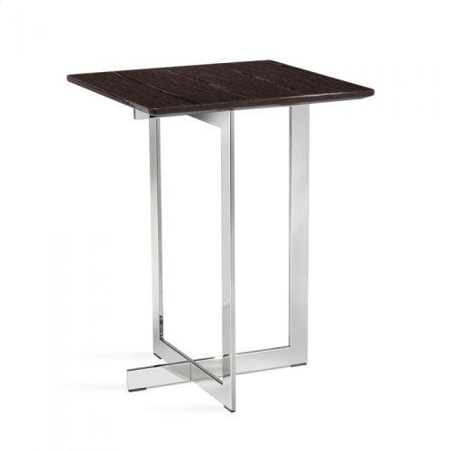 Riley Square Side Table - Smoked Grey Oa