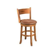 "24""H Sedona Swivel Barstool w/ Cushion Seat"