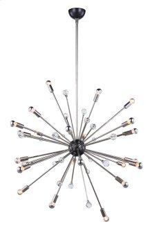 Nebula Collection 24-Light Polished Nickel Finish Chandelier