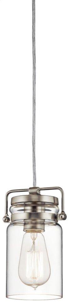 Brinley 1 Light Mini Pendant Brushed Nickel