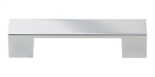 Wide Square Pull 3 3/4 Inch - Polished Chrome