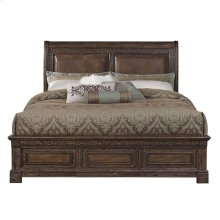 Barcelona King Size Bed with Upholstered Headboard