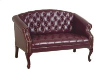 Queen Ann Traditional Ox Blood Love Seat