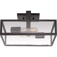 Visual Comfort S4190AI-CG Ian K. Fowler Halle 2 Light 14 inch Aged Iron Flush Mount Ceiling Light