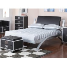 Leclair Contemporary Black and Silver Youth Full Bed