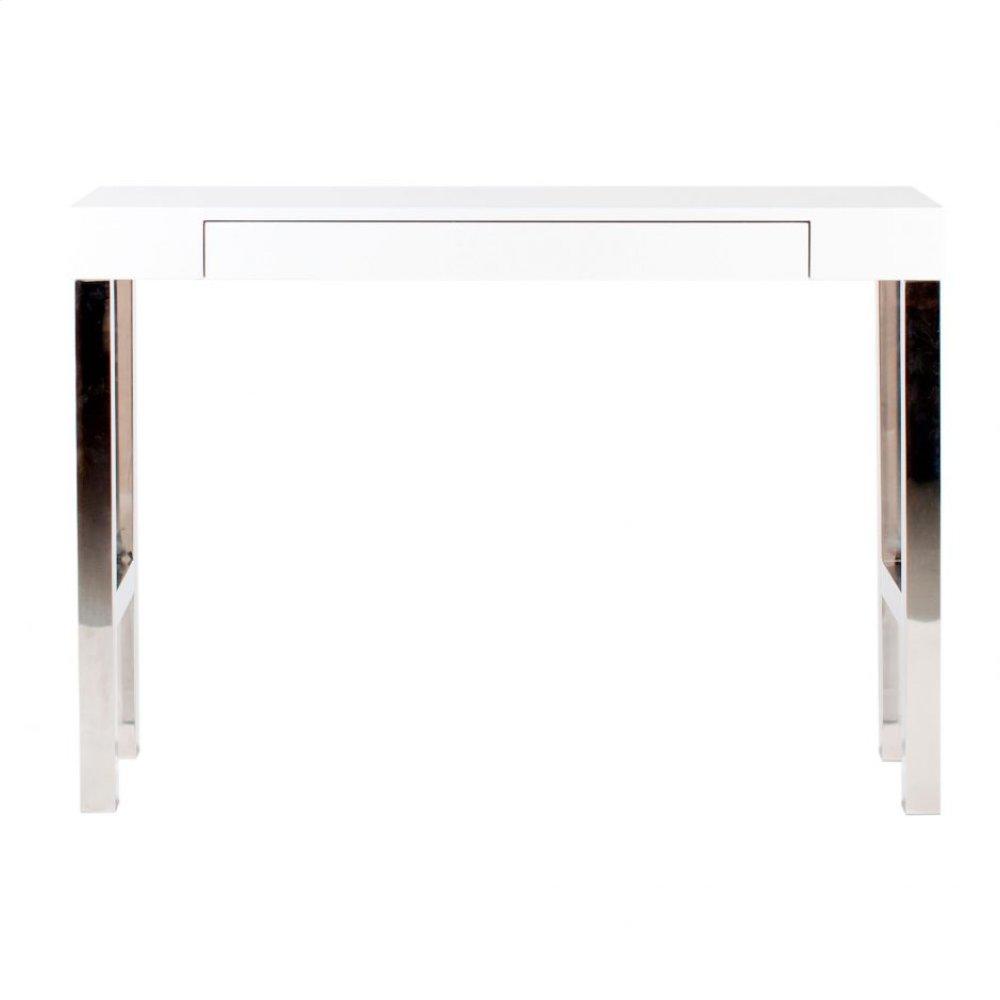 Tura Console Table White Laquer