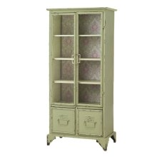 Tall Cabinet with Floral Pattern.