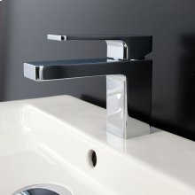 Deck mount single hole faucet with lever handle pop up drain included