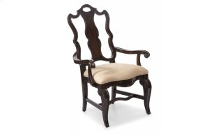 Continental Splat Back Arm Chair - Vintage Melange