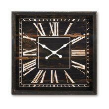 Wooden Wall Clock XL, Black