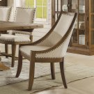 Hawthorne - Upholstered Hostess Chair - Barnwood Finish Product Image