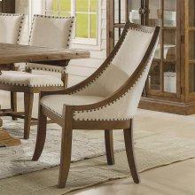 Hawthorne - Upholstered Hostess Chair - Barnwood Finish