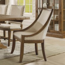 Hawthorne - Upholstered Hostess Chair - Barnwood Finish
