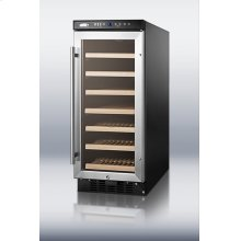 """15"""" wide wine cellar for built-in or freestanding use, with digital controls and LED light; replaces SUMMIT SWC1530"""