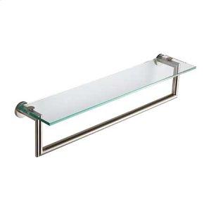 "Satin Nickel 24"" Shelf with Towel Bar"