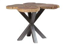 Deschutes Log Dining Table with 4 Leg Black Metal Pedestal, RLE-53