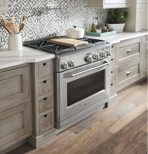"""Monogram 36"""" All Gas Professional Range with 4 Burners and Griddle (Natural Gas)"""
