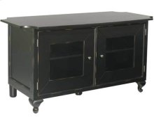 Audio Video Stand Distressed black finish - fits AV components and TVs up to 50""