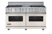 "60"" Custom Sealed Burner Dual Fuel Range, Natural Gas, No Brass Accent"