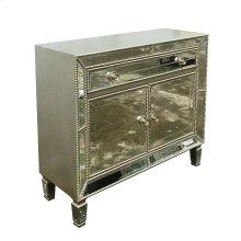 Contemporary Silver Accent Cabinet
