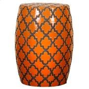 Quatrefoil Garden Stool, Tangerine Product Image