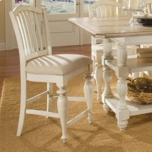 Mix-n-match Chairs - Counter Height Upholstered Chair - Dover White Finish